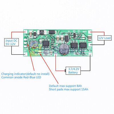 3.7v 18650 Lithium Battery Dc 5-12v Ups Voltage Converter Charger Booster Module