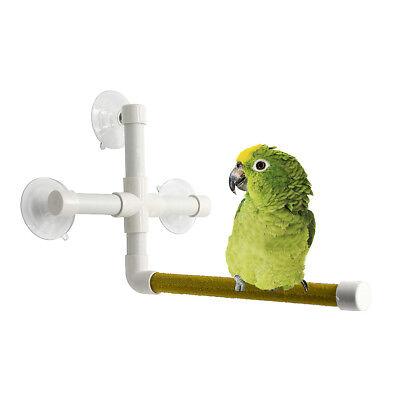 Plastic Parrot Shower Perch Stand Rack Bird Bathing Platform w/ 3 x Suction Cup