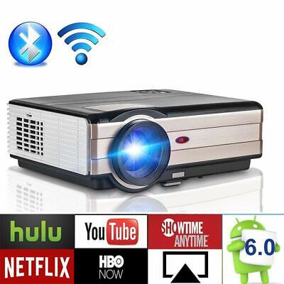 Full HD 1080P Android Projector Blue tooth Home Theater Backyard Movie HDMI USB