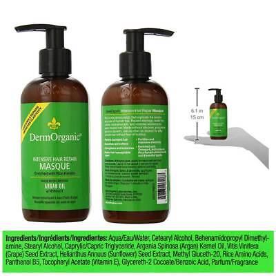 DermOrganic Masque Treatment Intensive Hair Repair Deep Argan Oil 8.5oz ()