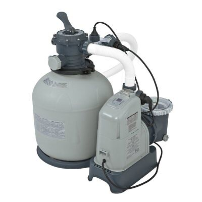 Saltwater System - Intex 120V Krystal Clear Sand Filter Pump & Saltwater System CG-28679 with E.C.O