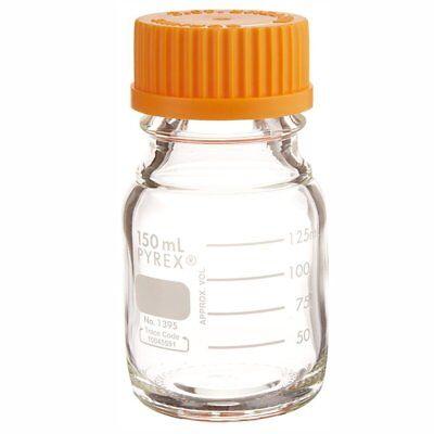 Corning Pyrex 1395-50 50ml Round Media Storage Bottle Single