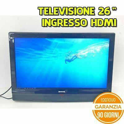 """TELEVISIONE TV LCD 26"""" AUTOVOX HD 16:9 1366X768 HDMI SCART USB SENZA PIEDISTALLO"""