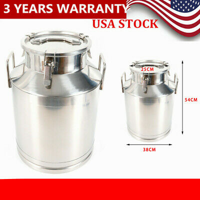Stainless Steel Food Container Milk Can Bucket Wine Pail Honey Barrel 50l Sale