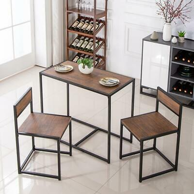 2 Seater Dining Table And Chairs Breakfast Kitchen Room Small Furniture Set New 7