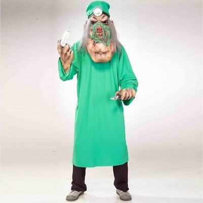 Mens Doctor Demented Scary Surgeon Halloween Fancy Dress Size ML Upto 42