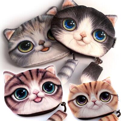 Portemonnaie Kleine Tasche Katze Kosmetiktasche Münzen Leckerli Make Up Geschenk ()