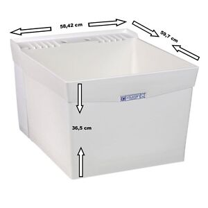 Large Utility Tub : Utility sinks Wash Trog Wash basin Sink Tub 15W extra large and deep ...