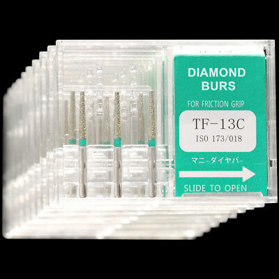 10 Boxes Tf-13c Mani Dia-burs Fg 1.6mm Dental High Speed Handpiece Diamond Bur