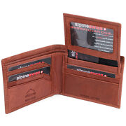 Mens Leather Bifold Wallet Brown