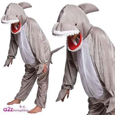 Snappy Haifisch-Kostüm Kinder Jungen Mädchen Jaws Sea Predator Größen 3-13 Yrs
