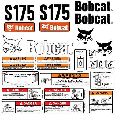 Bobcat S175 Skid Steer Set Vinyl Decal Sticker Bob Cat Usa Made - 25 Pc Set