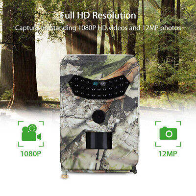 Outdoor Hunting Trail Camera 12MP 1080P Night Vision Wildlife Cam Scouting IR