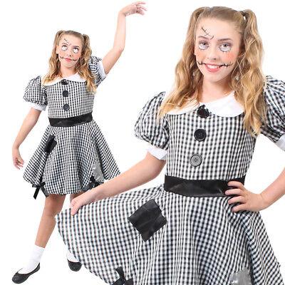 GIRLS BROKEN RAG DOLL COSTUME SCARY ZOMBIE TEENS HALLOWEEN FANCY DRESS - Teen Broken Doll Costume