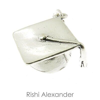 925 Sterling Silver Graduation Cap Charm Made in USA
