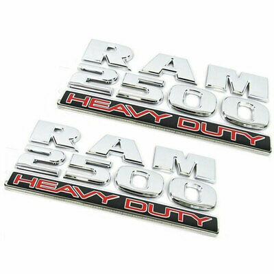 Chrome Finer 2500 Heavy Duty Decal Truck Emblem For Dodge RAM 2500 Badge
