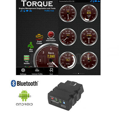 ELM327 Bluetooth OBD2 Auto Scanner For Android Torque Car Code Reader Diagnostic