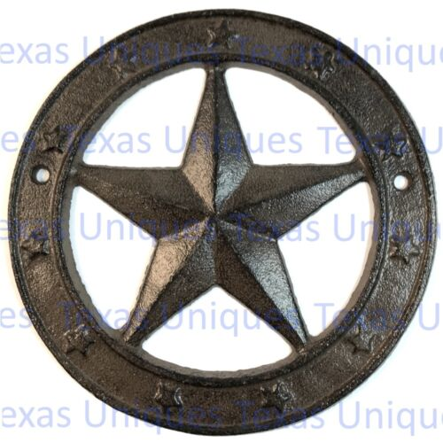 6 Inch Cast Iron Texas Star Plaque ST34-A