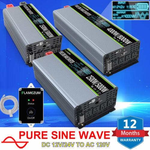 3000W 6000W 8000W Pure Sine Wave Solar Power Inverter DC 12V/24V To AC 110V 120V