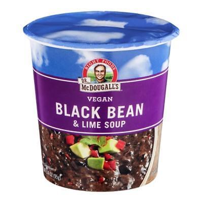 Dr. McDougall's-Black Bean & Lime Soup (12-3.4 oz cups)
