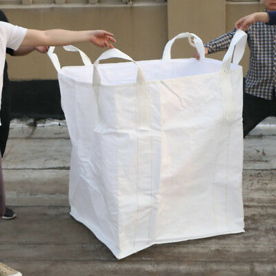 2200LBS Heavy Duty FIBC Bulk Super Ton Bag Duffle  Flat Bottom Sack 35