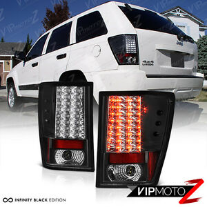 2005-2006-Jeep-Grand-Cherokee-Laredo-Black-Led-Tail-Light-Brake-Lamp-Left-right