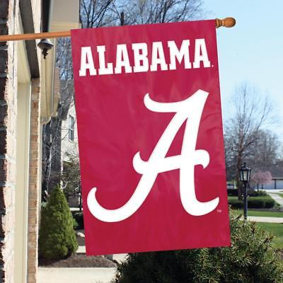 Ncaa Applique Banner (Alabama Crimson Tide NCAA Applique & Embroidered Banner Flag 44