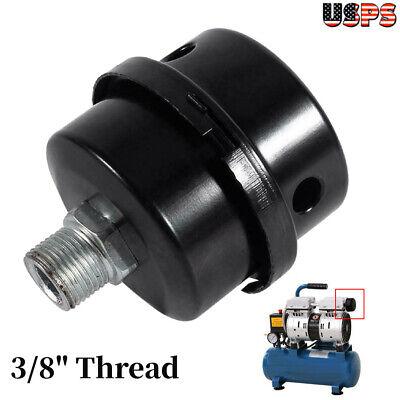 38 Thread Black Metal Air Compressor Intake Filter Muffler Silencer 16mm
