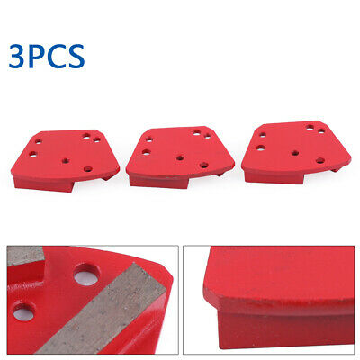 3pack Diamond Concrete Grinding Segment Trapezoid Grinder Grit 1620 Medium Bond