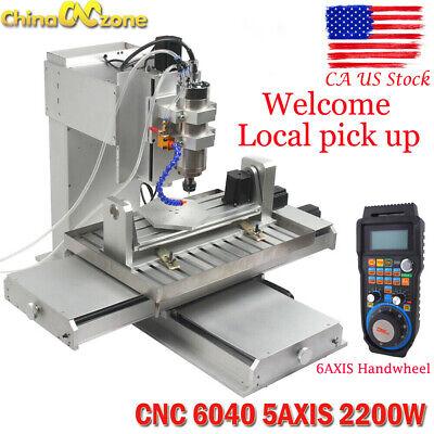 Cnc 6040 5axis 2200w Router Engraving Usb Port Machine Metal Milling Diy Machine