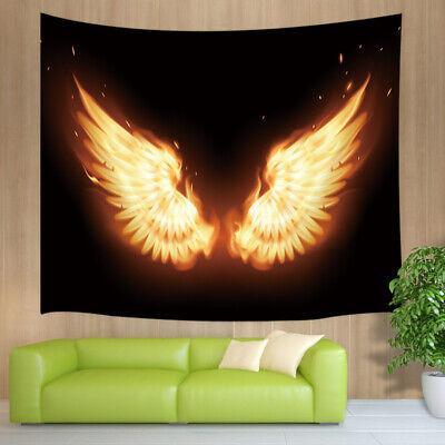 Flame Angel Wings Tapestry Wall Hanging Living Room Bedroom Dorm (Wings Tapestry)