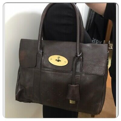 Authentic Mulberry Bayswater In Chocolate Brown