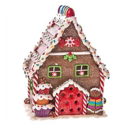 Gisela Graham Light Up Gingerbread House Ornament Christmas Home Decoration Gift