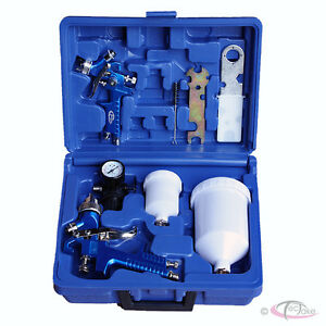 Air-Gravity-Feed-Spray-Gun-HVLP-Set-up-0-8mm-1-3mm-Case-Kit