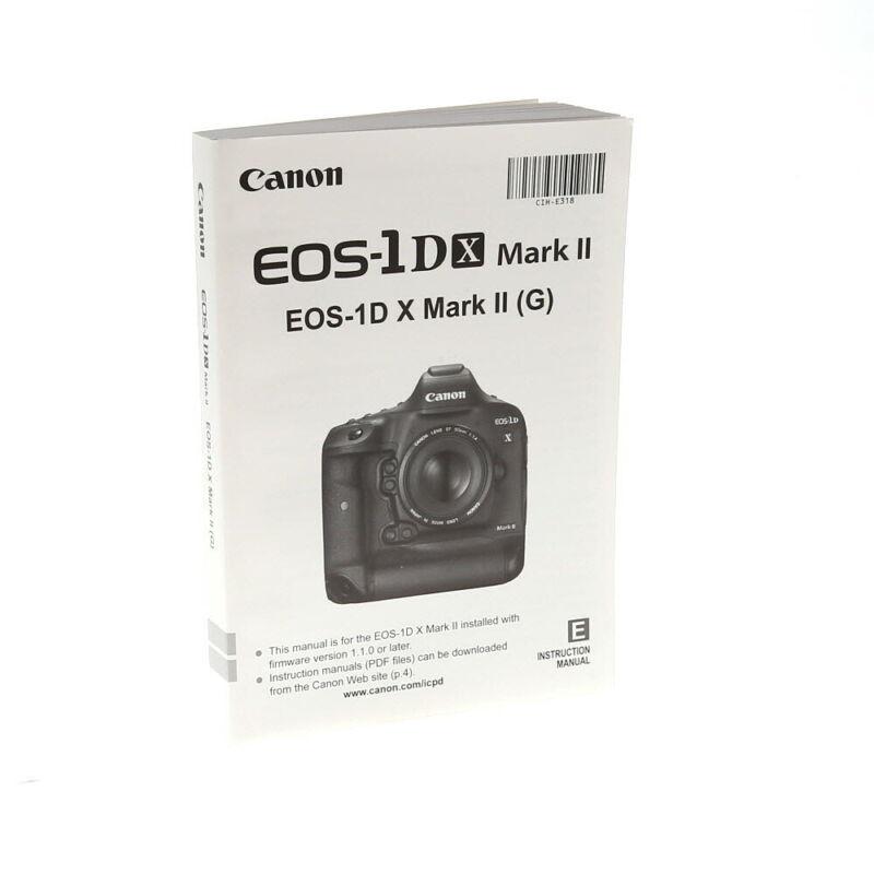 Canon EOS 1DX Mark II Instruction/User