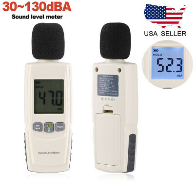 30-130db Lcd Digital Sound Level Meter Noise Measuring Instrument Decibel Tester