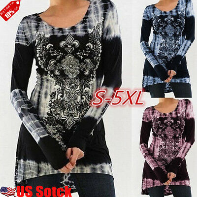 - Women's Loose Long Sleeve Casual Blouse Shirt Tunic Tops Fashion Blouse Pullover