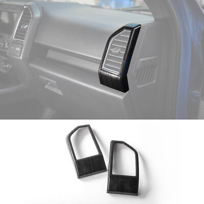 Black Wood Grain Inner Rear Air Vent Outlet Cover Trim For Ford F150 F-150 15 + for sale  Shipping to Canada