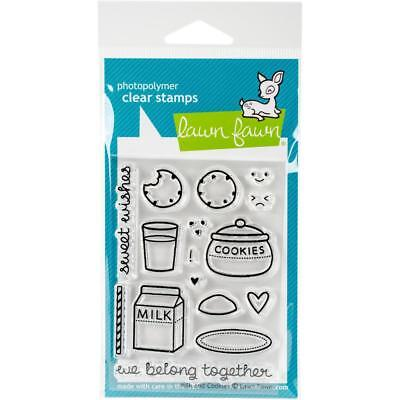 Scrapbooking Crafts Lf Clear Stamp Set Milk Cookies Belong Together Sweet Wishes