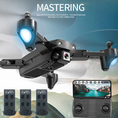 CSJ S166 GPS Drone Camera 1080P Follow me WIFI FPV Live with 3 Batteries N2L7