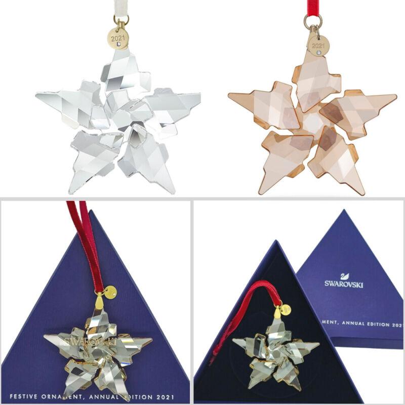 Swarovski Crystal 2021 Annual Edition Snowflake Ornament 5557796/5583847 Gift