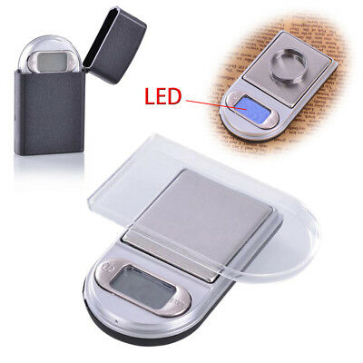 Mini Digitalwaage LED Juwelierwaage Taschenwaage Feuerzeug Feinwaage 0,01g-200g