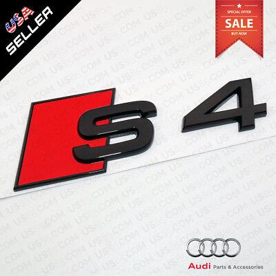 ABS Nameplate Audi S4 Gloss Black Emblem 3D Trunk Logo Emblem Badge Decoration for sale  San Francisco