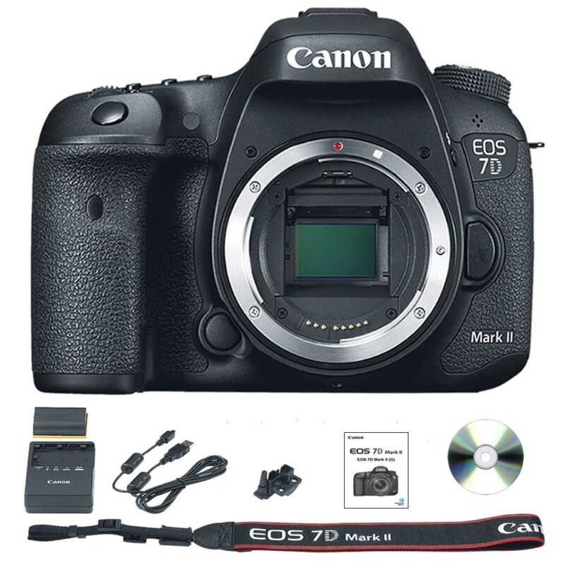 Canon EOS 7D Mark II DSLR Camera (Body Only) Black 9128B002
