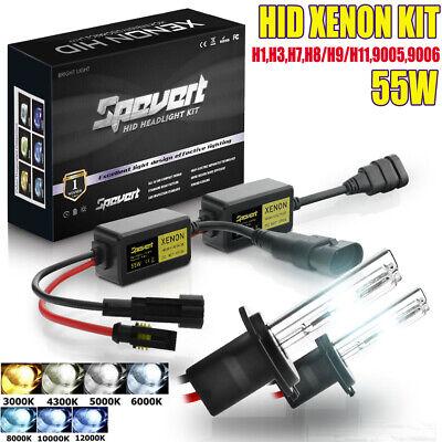 H1 H3 H7 H8/H9/H11 9005/6 55W HID Xenon LED Headlight Error Free Bulbs&Ballasts