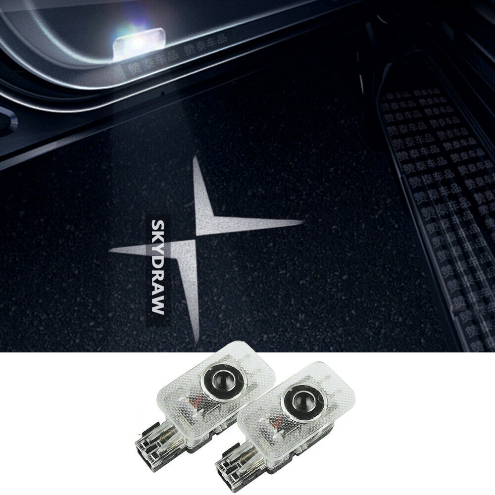 1 Pair FOR POLESTAR 2 VOLVO V60 V40 CAR LED DOOR WELCOME PROJECTOR SHADOW LIGHT