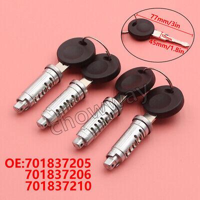 4X Door Lock Barrel Set/&4 Keys 701837205 701837210 For VW Transporter MK4 T4 Hot