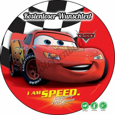 Tortenaufleger Geburtstag Tortenbild Zuckerbild Oblate Disney Cars 029 ()