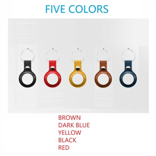 5 PCS AirTag Leather Holder Case Cover AirTags Tracker Keychain Sleeve Shell Cases, Covers & Skins