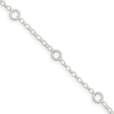 925 Sterlingsilber Kinder 5mm Kabel Link Kostüm Kinder Armband 15.2cm